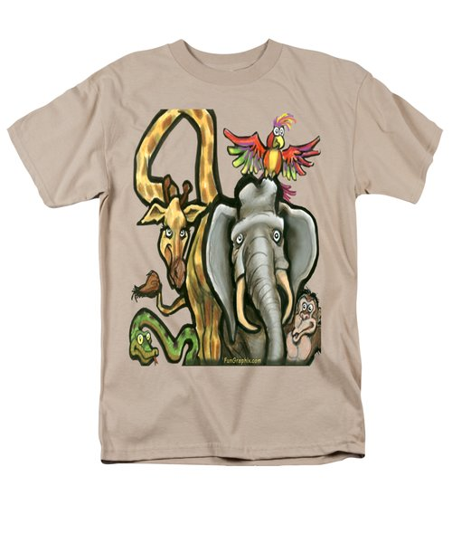 Zoo Animals Men's T-Shirt  (Regular Fit) by Kevin Middleton