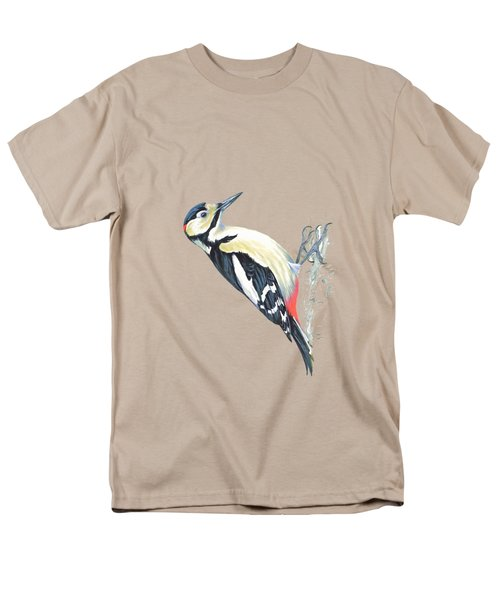 Great Spotted Woodpecker Men's T-Shirt  (Regular Fit) by Roy Pedersen