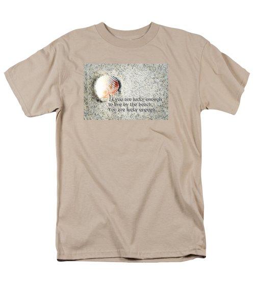 Beach Art - Lucky Enough - Sharon Cummings Men's T-Shirt  (Regular Fit) by Sharon Cummings
