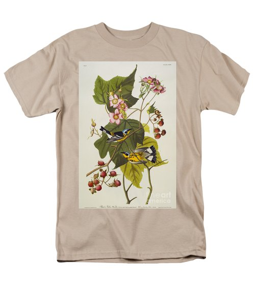 Black And Yellow Warbler Men's T-Shirt  (Regular Fit) by John James Audubon