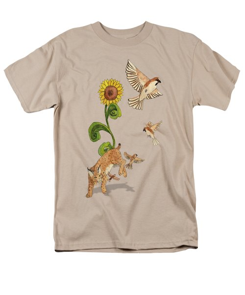 Bobcats And Beeswax Men's T-Shirt  (Regular Fit) by Teighlor Chaney
