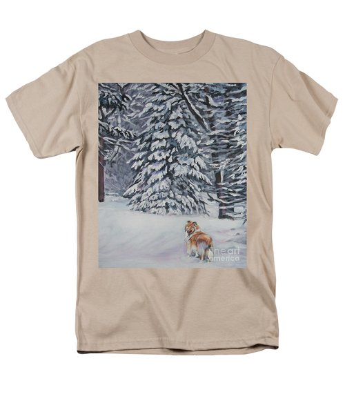 Collie sable Christmas tree T-Shirt by L A Shepard