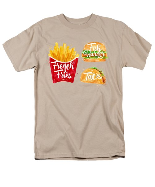 Color French Fries Men's T-Shirt  (Regular Fit) by Aloke Design