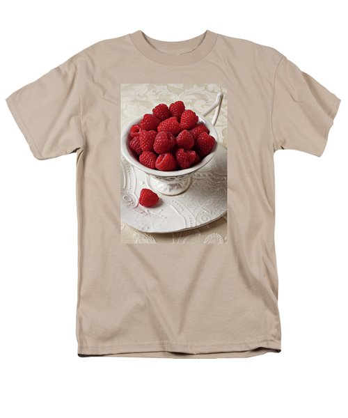 Cup Full Of Raspberries  Men's T-Shirt  (Regular Fit) by Garry Gay