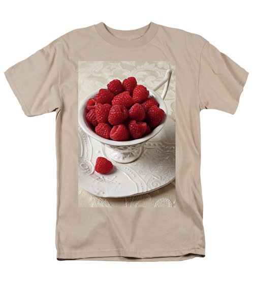 Cup full of raspberries  T-Shirt by Garry Gay