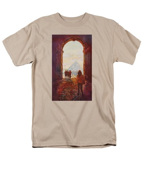 Evening At The Louvre Men's T-Shirt  (Regular Fit) by Jenny Armitage