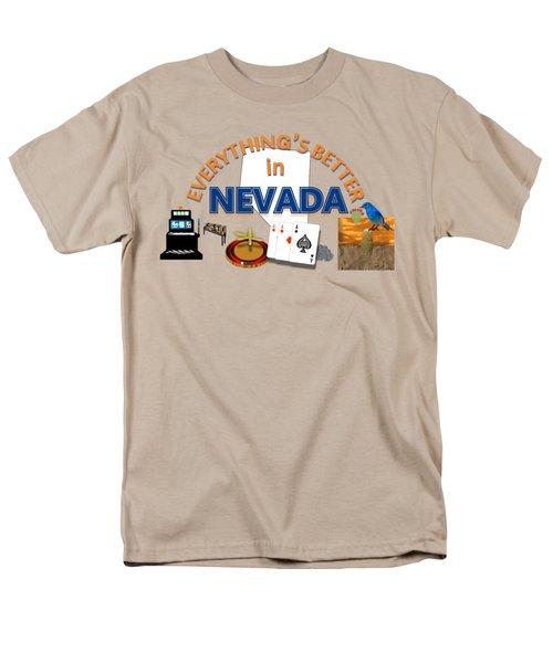 Everything's Better In Nevada Men's T-Shirt  (Regular Fit) by Pharris Art