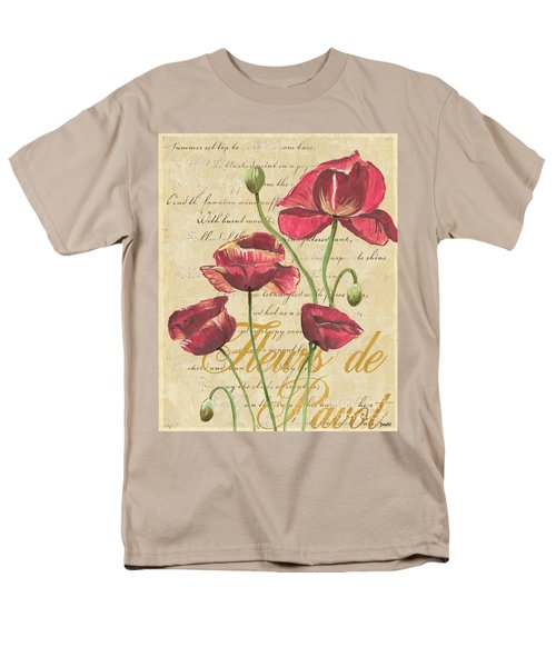 French Pink Poppies T-Shirt by Debbie DeWitt