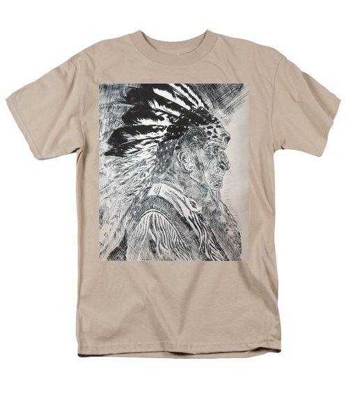 Indian Etching Print T-Shirt by Lisa Stanley