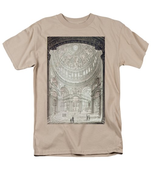 Interior Of Saint Pauls Cathedral Men's T-Shirt  (Regular Fit) by John Coney