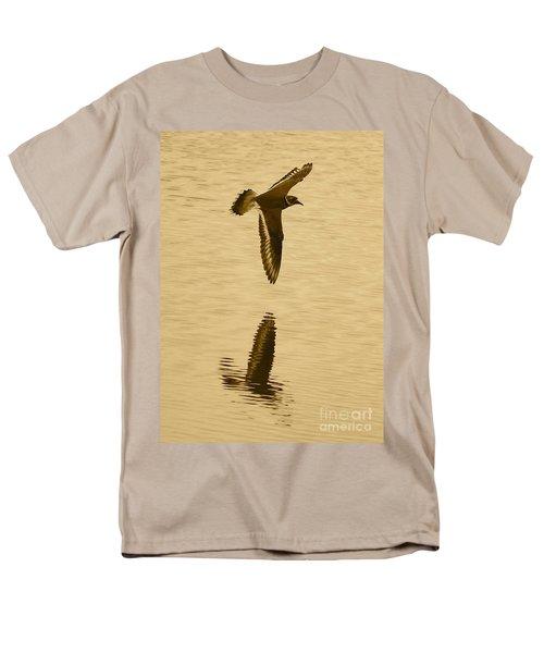 Killdeer Over The Pond Men's T-Shirt  (Regular Fit) by Carol Groenen
