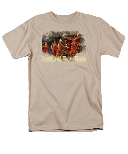 Liverpool V Leicester City Men's T-Shirt  (Regular Fit) by Don Kuing
