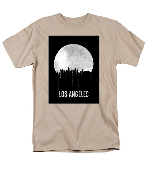 Los Angeles Skyline Black Men's T-Shirt  (Regular Fit) by Naxart Studio