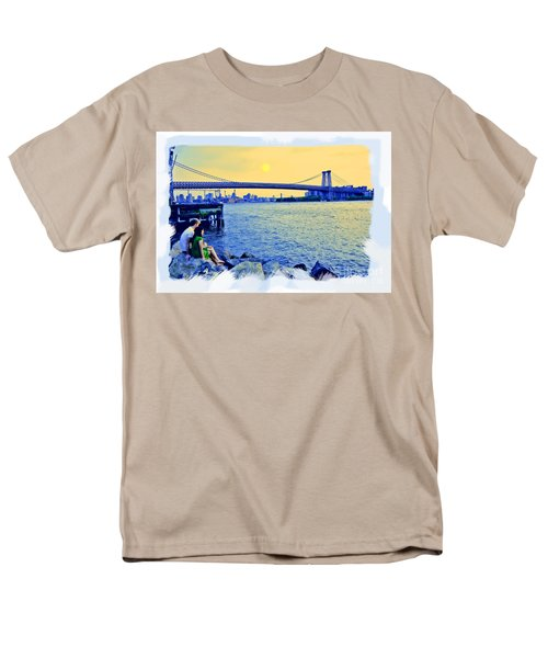 Lovers On The Rocks T-Shirt by Madeline Ellis