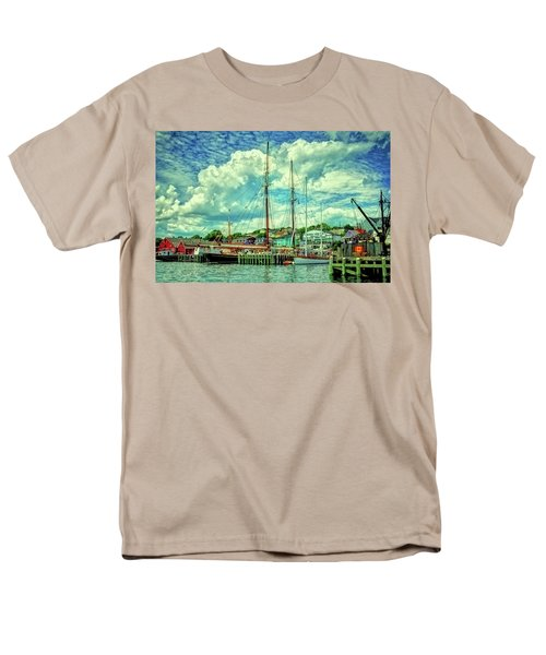 Men's T-Shirt  (Regular Fit) featuring the photograph Lunenburg Harbor by Rodney Campbell
