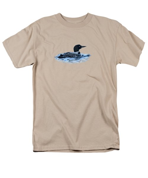 Male Mating Common Loon Men's T-Shirt  (Regular Fit) by Daniel Hebard