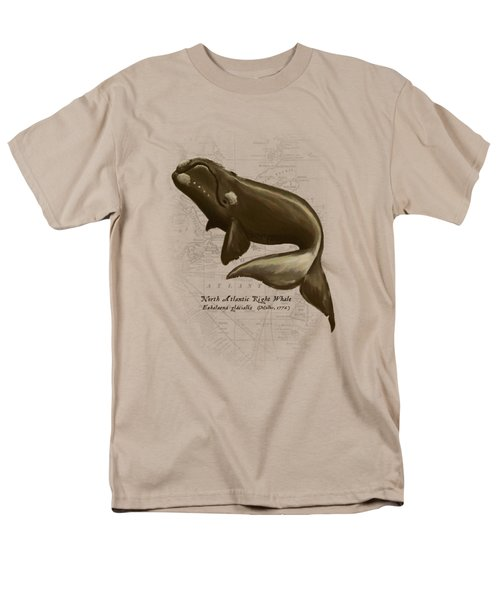 North Atlantic Right Whale Men's T-Shirt  (Regular Fit) by Amber Marine