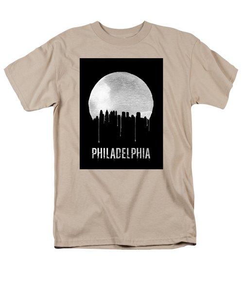 Philadelphia Skyline Black Men's T-Shirt  (Regular Fit) by Naxart Studio