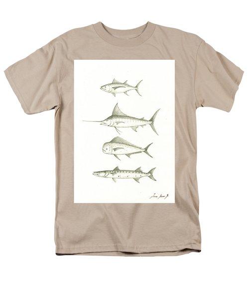 Saltwater Gamefishes Men's T-Shirt  (Regular Fit) by Juan Bosco