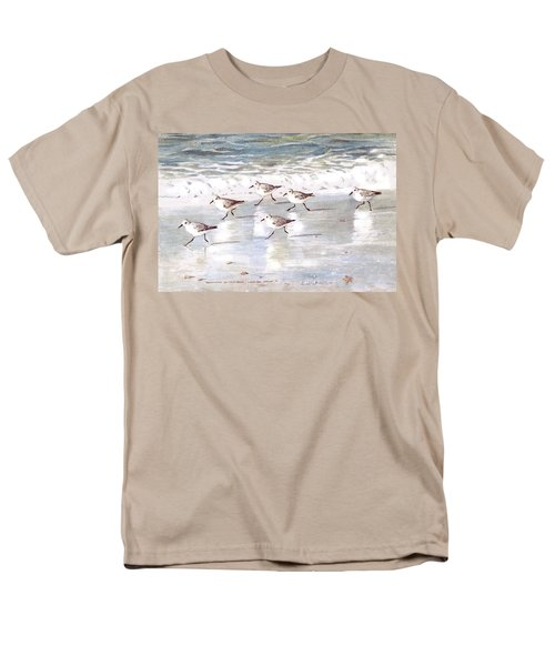 Sandpipers On Siesta Key Men's T-Shirt  (Regular Fit) by Shawn McLoughlin