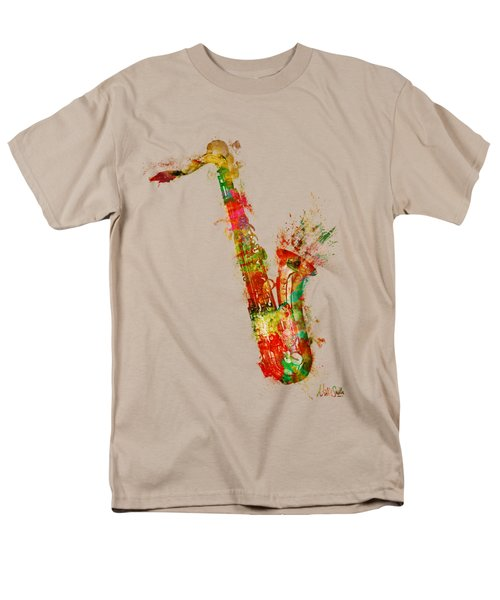 Sexy Saxaphone Men's T-Shirt  (Regular Fit) by Nikki Smith