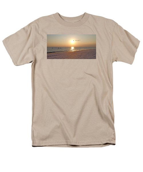 Shackleford Banks Sunset Men's T-Shirt  (Regular Fit) by Betsy Knapp