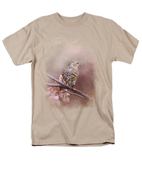 Siskin In The Garden Men's T-Shirt  (Regular Fit) by Jai Johnson