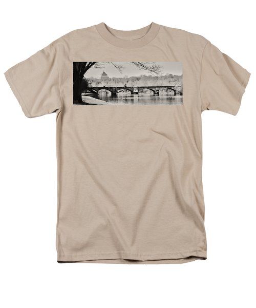 Snow on the River T-Shirt by Bill Cannon