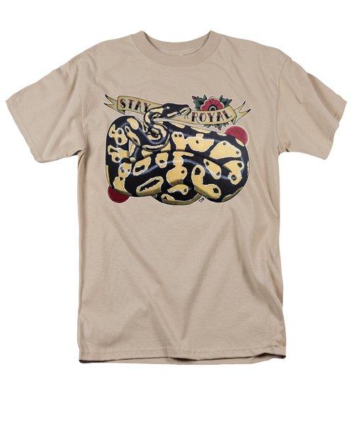 Stay Royal Ball Python Men's T-Shirt  (Regular Fit) by Donovan Winterberg