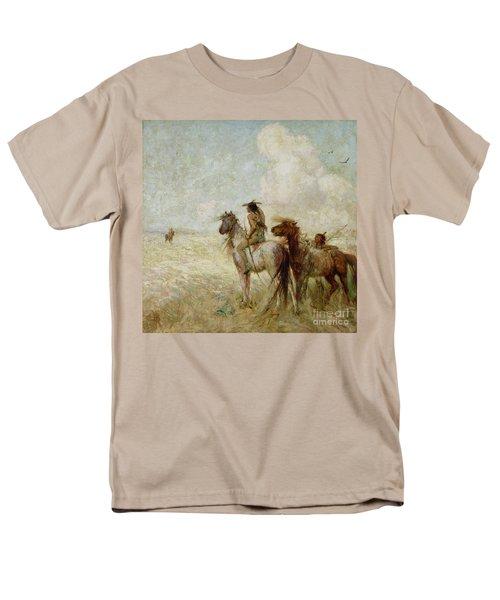 The Bison Hunters Men's T-Shirt  (Regular Fit) by Nathaniel Hughes John Baird