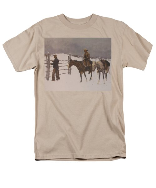 The Fall Of The Cowboy T-Shirt by Frederic Remington