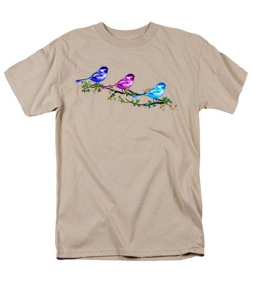Three Chickadees Men's T-Shirt  (Regular Fit) by Teresa Ascone
