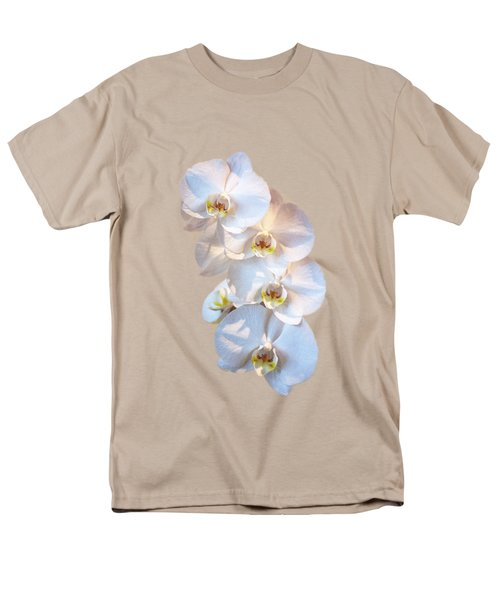 White Orchid Cutout Men's T-Shirt  (Regular Fit) by Linda Phelps