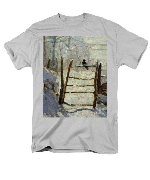 The Magpie Men's T-Shirt  (Regular Fit) by Claude Monet