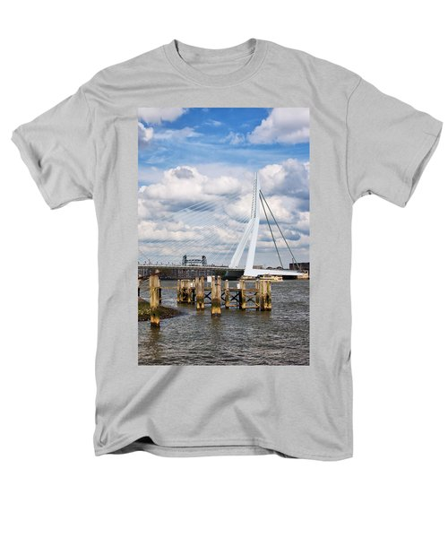 Erasmus Bridge in Rotterdam T-Shirt by Artur Bogacki