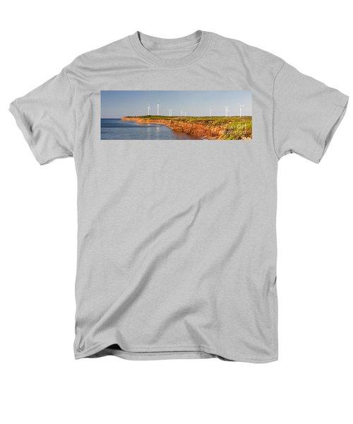 Wind turbines on atlantic coast T-Shirt by Elena Elisseeva
