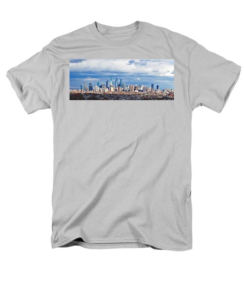 Buildings In A City, Comcast Center Men's T-Shirt  (Regular Fit) by Panoramic Images
