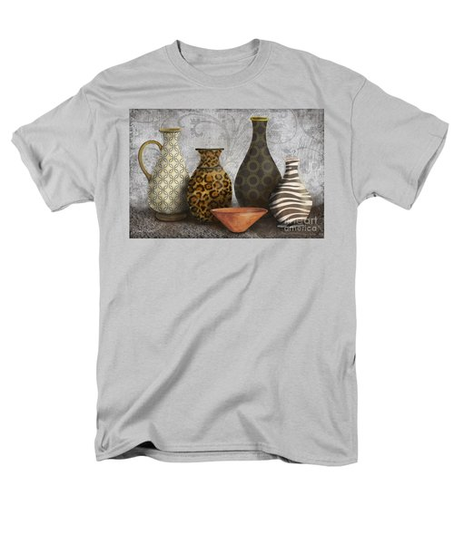 Animal Print Vase Still Life-A T-Shirt by Jean Plout