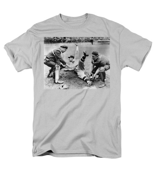 Babe Ruth Slides Home Men's T-Shirt  (Regular Fit) by Underwood Archives