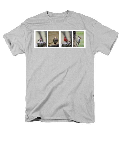 Backyard Bird Set Men's T-Shirt  (Regular Fit) by Heather Applegate