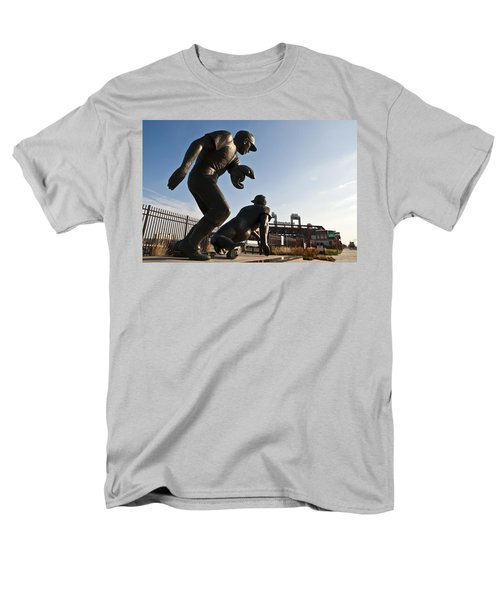 Baseball Statue at Citizens Bank Park T-Shirt by Bill Cannon