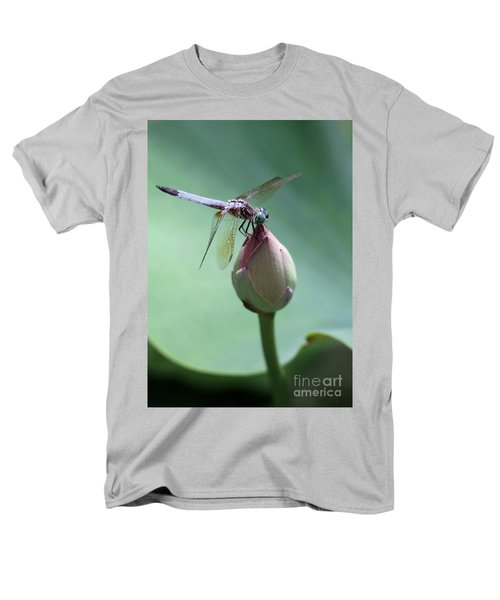 Blue Dragonflies Love Lotus Buds T-Shirt by Sabrina L Ryan