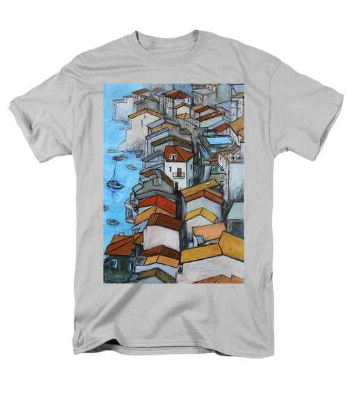 Boats in front of the Buildings IV T-Shirt by Xueling Zou