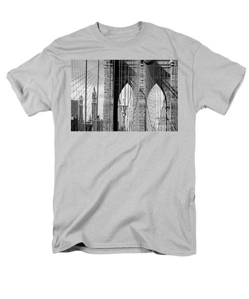 Brooklyn Bridge New York City Usa Men's T-Shirt  (Regular Fit) by Sabine Jacobs