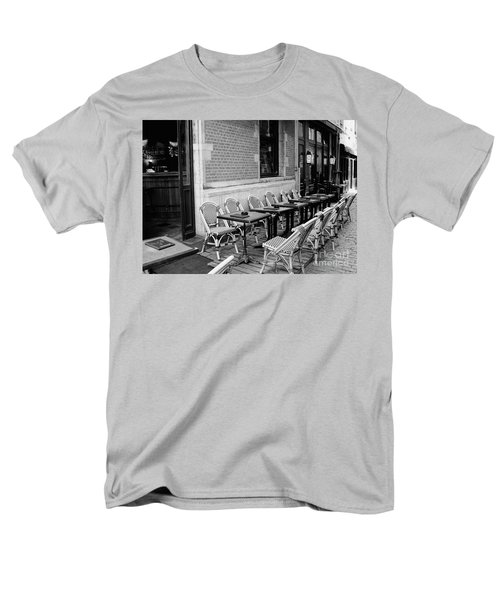 Brussels Cafe in Black and White T-Shirt by Carol Groenen