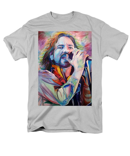 Eddie Vedder In Pink And Blue Men's T-Shirt  (Regular Fit) by Joshua Morton