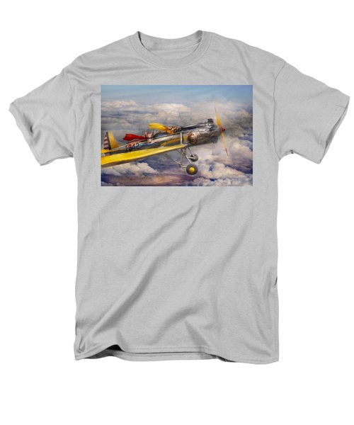 Flying Pig - Plane - The joy ride T-Shirt by Mike Savad