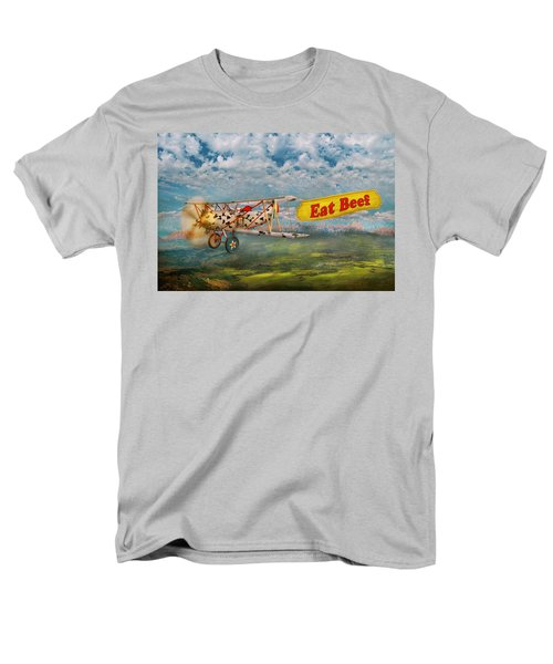 Flying Pigs - Plane - Eat Beef T-Shirt by Mike Savad