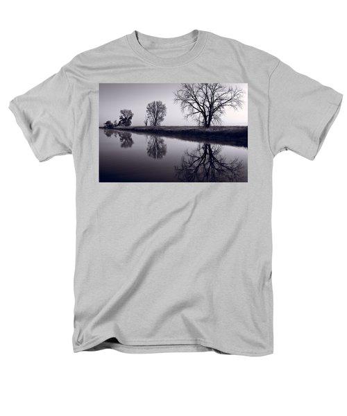 Foggy Morn BW T-Shirt by Steve Gadomski
