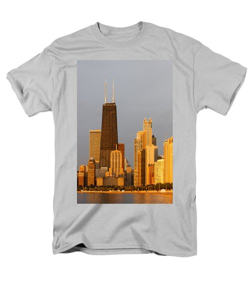 John Hancock Center Chicago Men's T-Shirt  (Regular Fit) by Adam Romanowicz